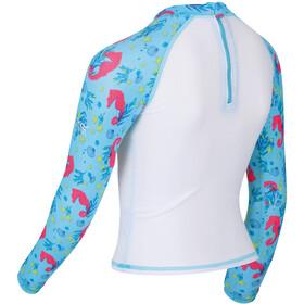 Regatta Valo Rash Swimsuit Kids blue mist seahorse